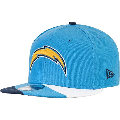 Men's New Era Powder Blue Los Angeles Chargers Curve 9FIFTY Adjustable Snapback Hat