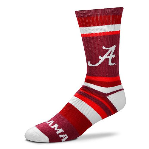 Youth For Bare Feet Alabama Crimson Tide Rainbow Stripe Tri-Blend Crew Socks