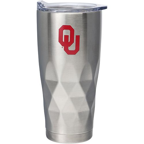 Oklahoma Sooners 22oz. Diamond Bottom Stainless Steel Tumbler