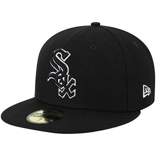 Chicago White Sox New Era B-Dub 59FIFTY Fitted Hat - Black