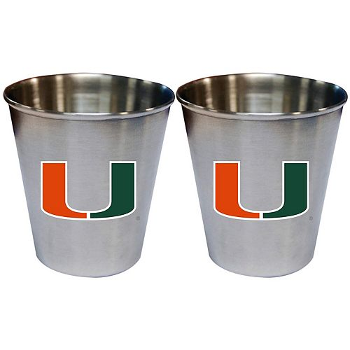 Miami Hurricanes 2oz. Stainless Steel Collector Cups Two-Pack Set