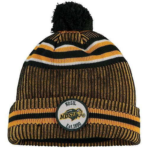 Men's New Era Green NDSU Bison Sideline Home Cuffed Knit Hat