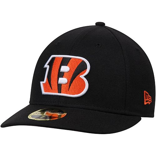 Men's New Era Black Cincinnati Bengals Omaha Low Profile 59FIFTY Structured Hat
