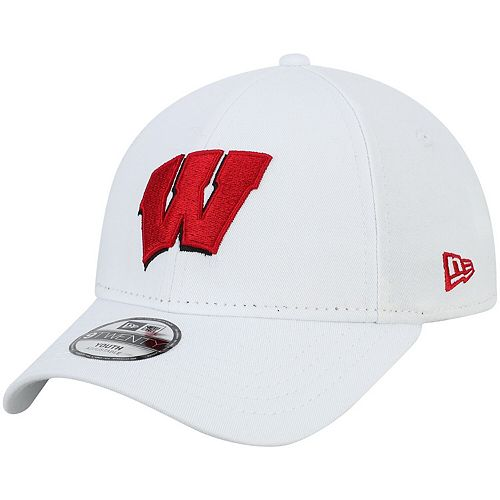 Youth New Era White Wisconsin Badgers Core Classic Twill 9TWENTY Adjustable Hat