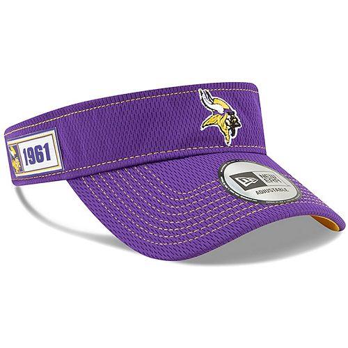Men's New Era Purple Minnesota Vikings 2019 NFL Sideline Road Official Visor