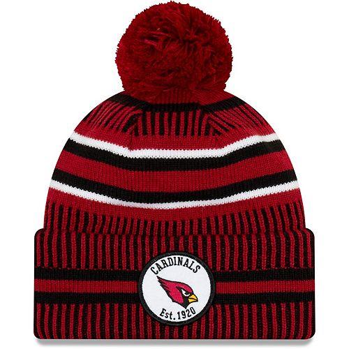 Youth New Era Cardinal/Black Arizona Cardinals 2019 NFL Sideline Home Sport Knit Hat