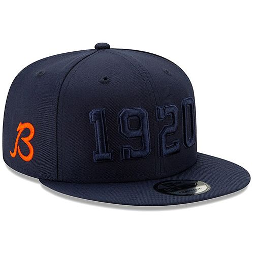 Youth New Era Navy Chicago Bears 2019 NFL Sideline Color Rush B Alternate 9FIFTY Adjustable Snapback Hat