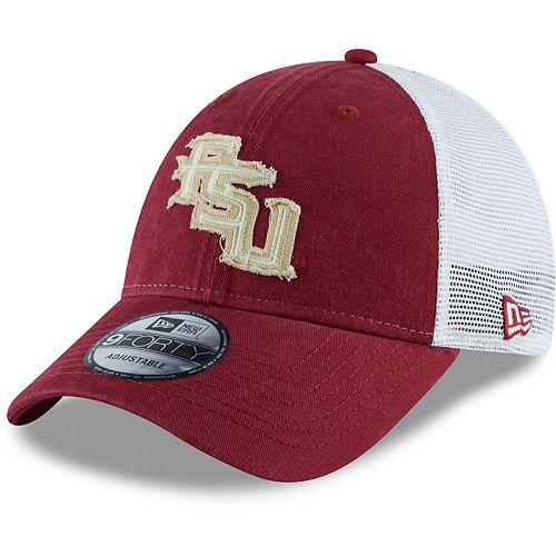 Men's New Era Garnet Florida State Seminoles Team 9FORTY Adjustable Snapback Trucker Hat