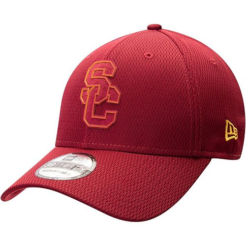 Men's New Era Cardinal USC Trojans Two-Tone Mold 39THIRTY Flex Hat
