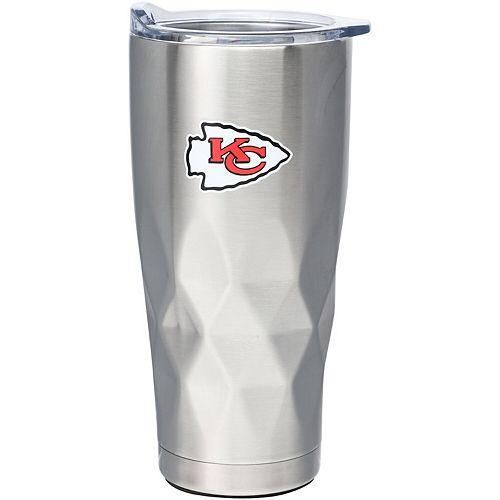 Kansas City Chiefs 22oz. Diamond Bottom Stainless Steel Tumbler