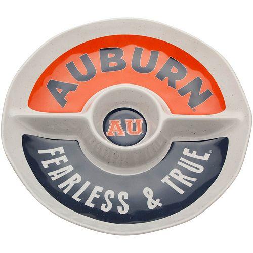 Auburn Tigers Three-Section Round Platter