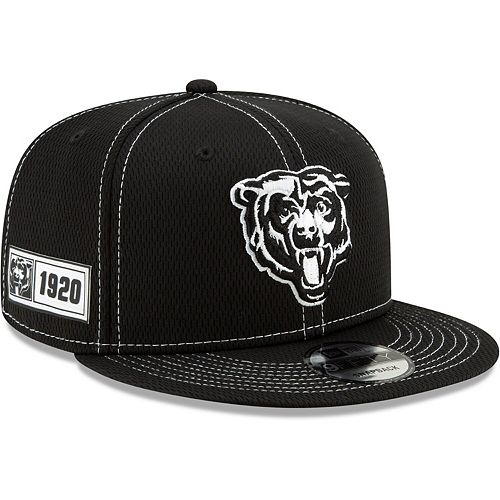 Men's New Era Black Chicago Bears 2019 NFL Sideline Road 9FIFTY Snapback Adjustable Hat