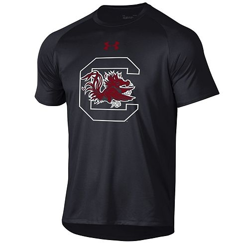 Men's Under Armour Black South Carolina Gamecocks School Logo Tech 2.0 Performance T-Shirt