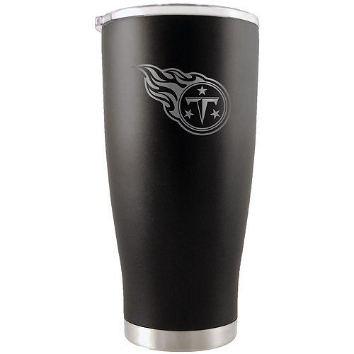 Tennessee Titans 20oz. Etched Team Logo Tumbler - Black