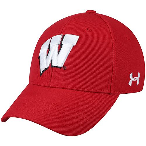 Men's Under Armour Red Wisconsin Badgers Classic Structured Adjustable Hat