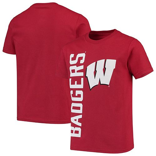 Youth Red Wisconsin Badgers Big & Bold T-Shirt