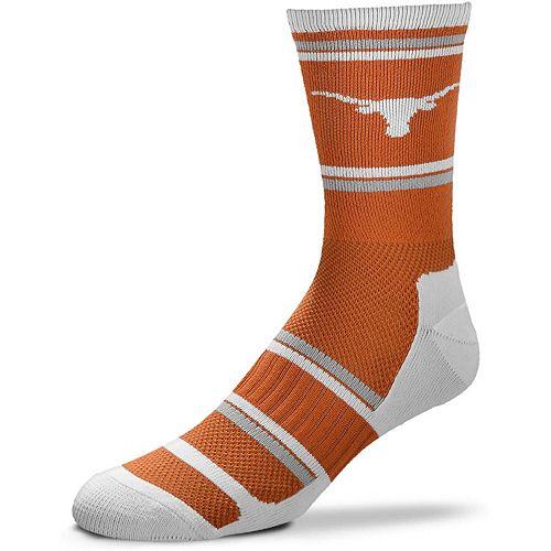 Men's For Bare Feet Texas Longhorns Performer II Crew Socks