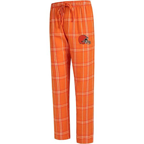 Men's Concepts Sport Orange Cleveland Browns Big & Tall Hillstone Flannel Pants