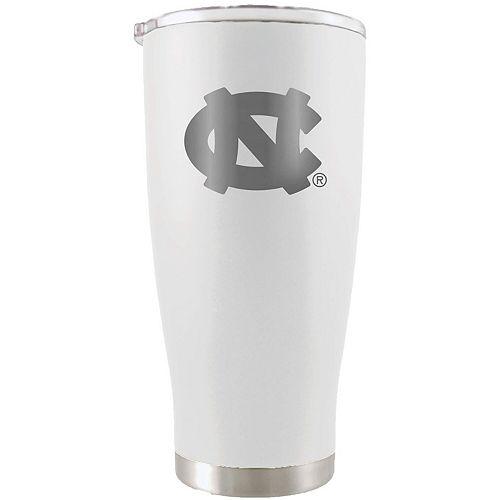 North Carolina Tar Heels 20oz. Etched Team Logo Tumbler - White
