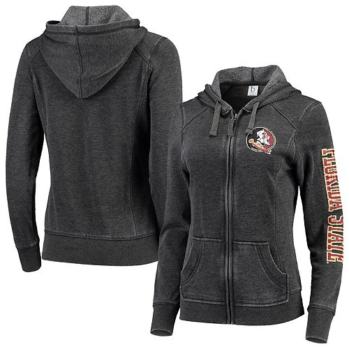 Women's Heathered Charcoal Florida State Seminoles Rally Enzyme Washed Full-Zip Hoodie