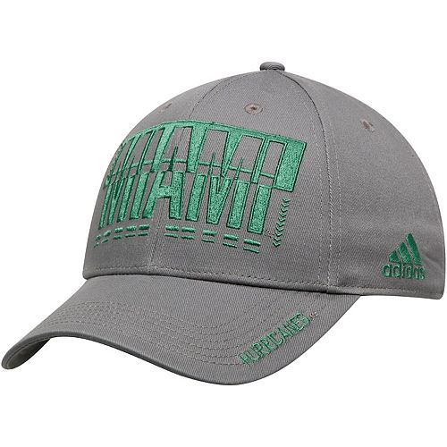 Men's adidas Gray Miami Hurricanes Hyper Initials Adjustable Hat