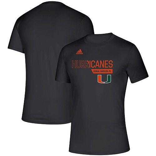 Men's adidas Black Miami Hurricanes Sideline Locker Division Creator climalite T-Shirt