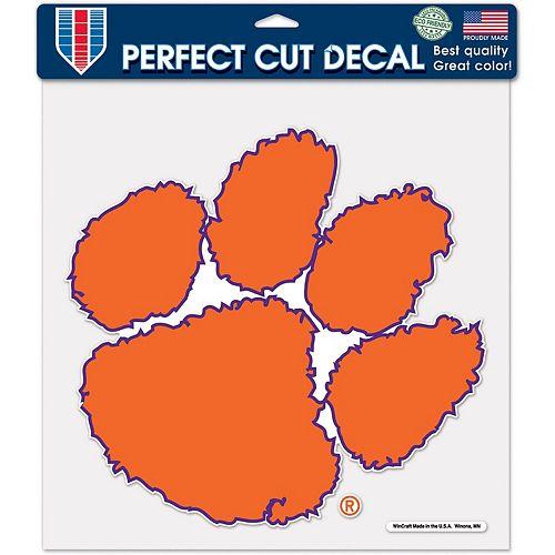 "WinCraft Clemson Tigers 12"" x 12"" Perfect Cut Decal"