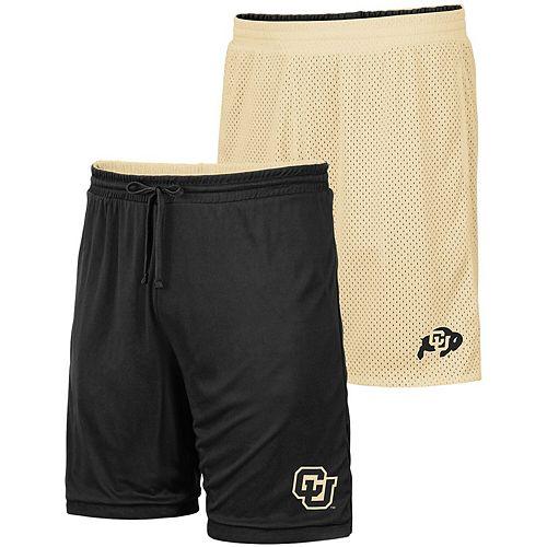 Men's Colosseum Gold/Black Colorado Buffaloes Wiggum Reversible Shorts