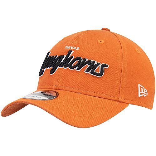 Men's New Era Texas Orange Texas Longhorns Retro Script 9TWENTY Adjustable Snapback Hat