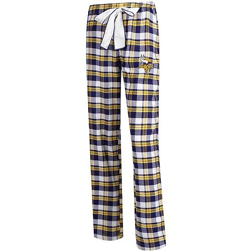 Women's Concepts Sport Purple/Gold Minnesota Vikings Piedmont Flannel Sleep Pants