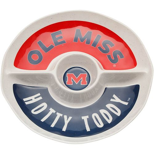 Ole Miss Rebels Three-Section Round Platter
