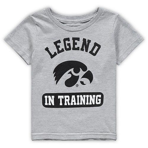 Toddler Heathered Gray Iowa Hawkeyes Legend Trainer T-Shirt