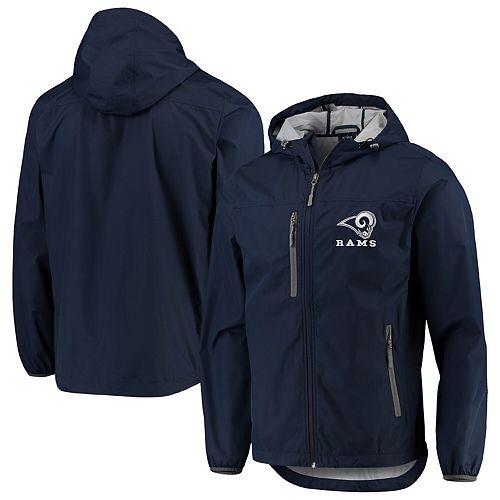 Men's G-III Sports by Carl Banks Navy Los Angeles Rams Double Play Full-Zip Jacket