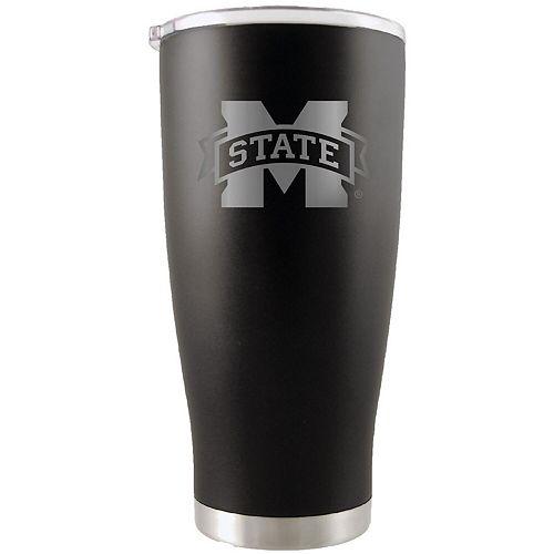 Mississippi State Bulldogs 20oz. Etched Team Logo Tumbler - Black