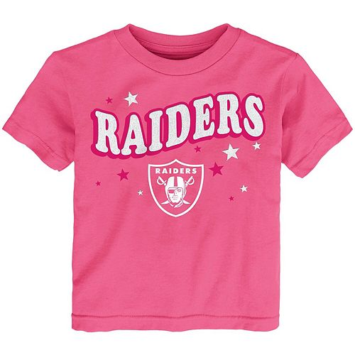 Girls Infant Pink Oakland Raiders My Team T-Shirt