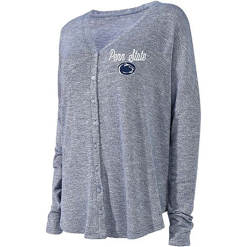 Women's Concepts Sport Navy Penn State Nittany Lions Knit Button-Up Sweater