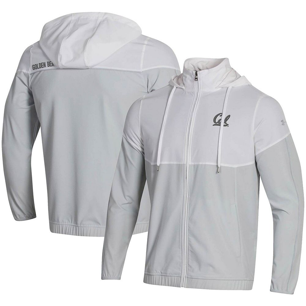 Men's Under Armour White Cal Bears Woven Warmup Full-Zip Jacket
