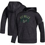 Youth adidas Black South Florida Bulls Team Issue Speed Arch climawarm Pullover Hoodie