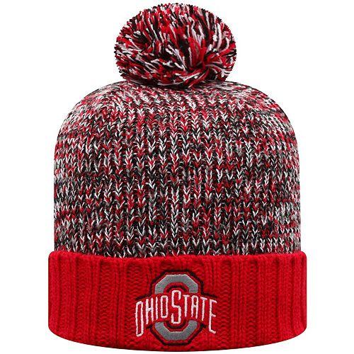 Men's Top of the World Scarlet Ohio State Buckeyes Soar Cuffed Pom Knit Hat