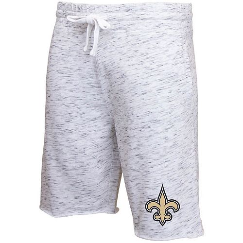 Men's Concepts Sport Heathered Gray New Orleans Saints Alley Space Dye Jam Shorts