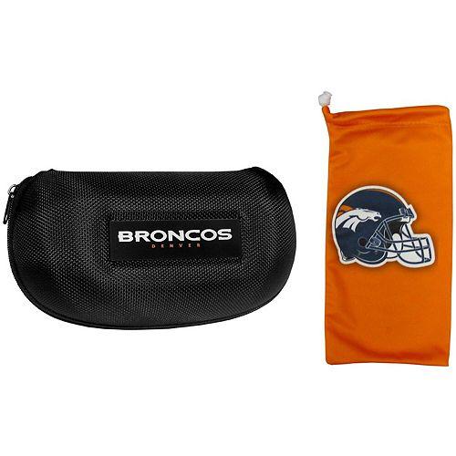 Denver Broncos Sunglasses Hard Case & Microfiber Bag Set