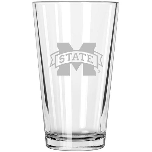 Mississippi State Bulldogs Etched 16oz. Pint Glass