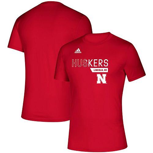 Men's adidas Scarlet Nebraska Cornhuskers Sideline Locker Division Creator climalite T-Shirt