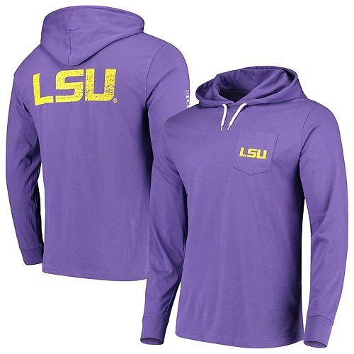 Men's Southern Tide Purple LSU Tigers Gameday Hooded Long Sleeve T-Shirt