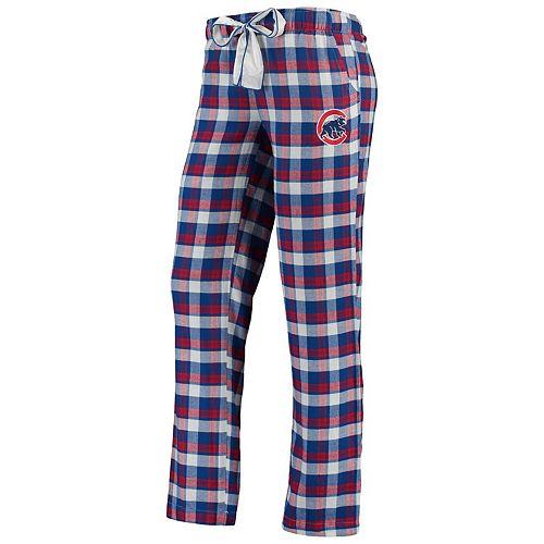 Women's Concepts Sport Royal Chicago Cubs Piedmont Flannel Pants