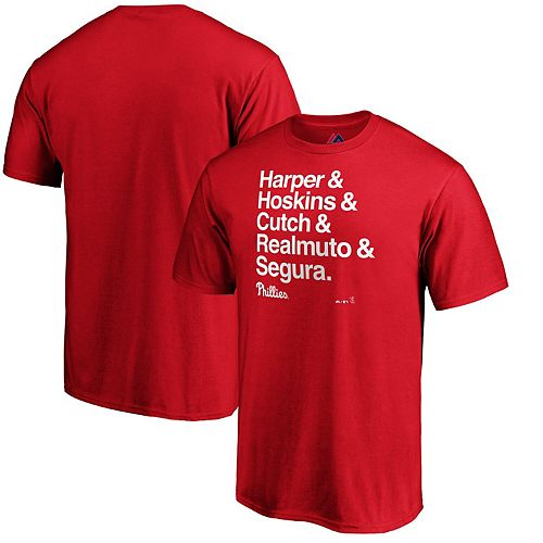 Bryce Harper Philadelphia Phillies Majestic Hometown Ampersand T-Shirt - Red