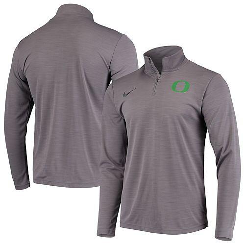 Men's Nike Gray Oregon Ducks Intensity Performance Quarter-Zip Jacket