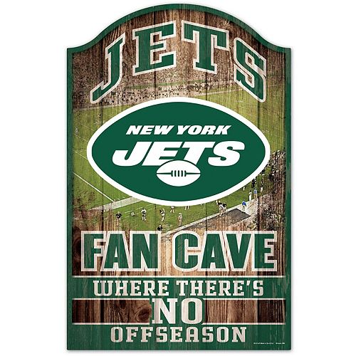 WinCraft New York Jets 11'' x 17'' Wood Fan Cave Sign