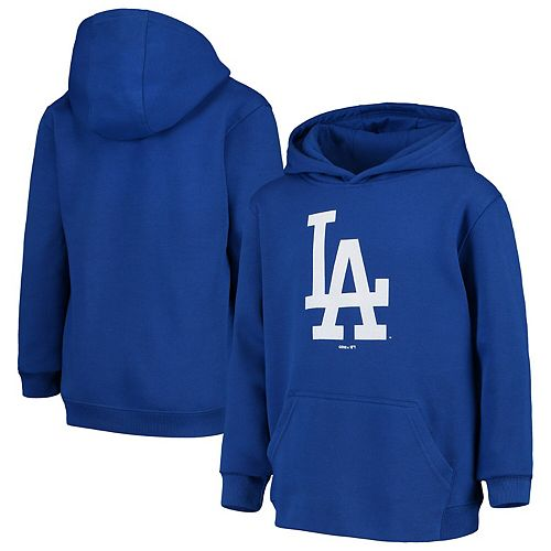 Youth Royal Los Angeles Dodgers Primary Logo Pullover Hoodie