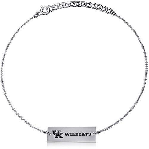Women's Dayna Designs Silver Kentucky Wildcats Coordinates Bar Bracelet